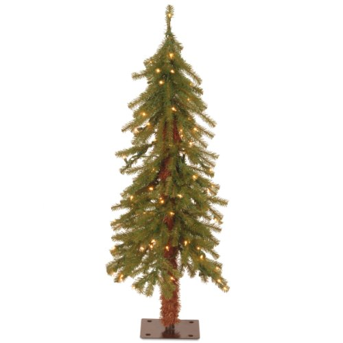 National Tree 3 Foot Hickory Cedar Tree with 50 Clear Lights (CED7-30LO-S)