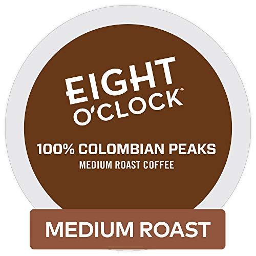 - Eight O'Clock Coffee 100% Colombian Peaks, Single Serve Coffee K-Cup Pod, Medium Roast, 72