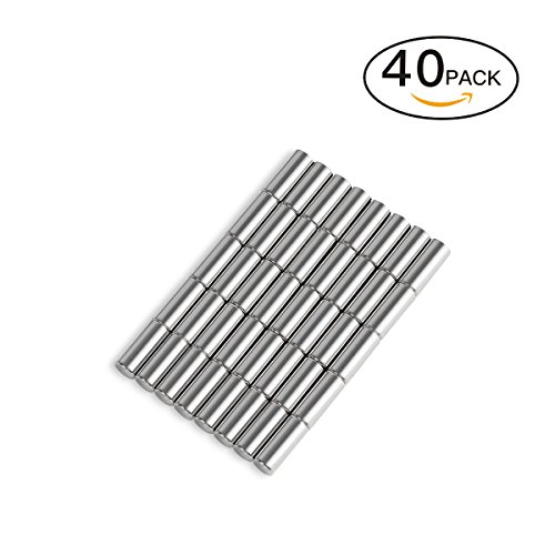 ts Perfect for Maps, Whiteboards and Refrigerators - 40Pcs Tiny Magnets D4x10mm Magnetic Metal Pins/ Map Pins - by Not Just A Gadget (Round Map)