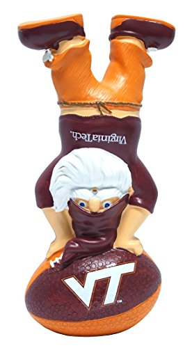 FOCO NCAA Virginia Tech Hokies Handstand On Football Gnome, One Size, Red by FOCO