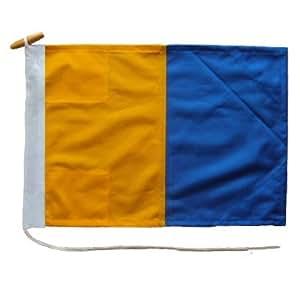 Señal código bandera Tamaño 2K de nailon con ojales