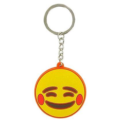 Llavero Emoji Cara Contento: Amazon.es: Juguetes y juegos