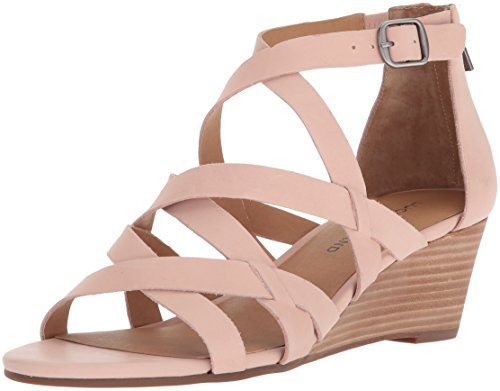 Lucky Brand Women's Jewelia Wedge Sandal, Misty Rose, 8 M -