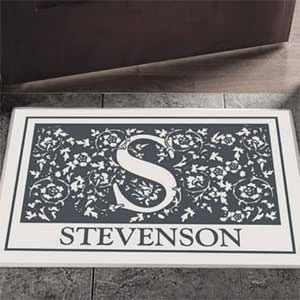 Amazon Com Personalized Doormat With Name And Initial