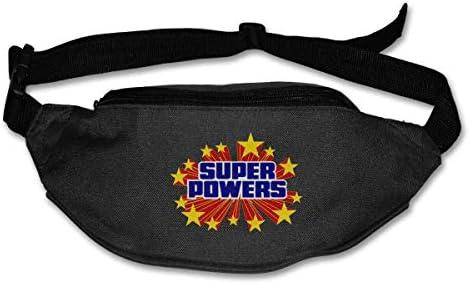 スーパーパワーズユニセックスアウトドアファニーパックバッグベルトバッグスポーツウエストパック