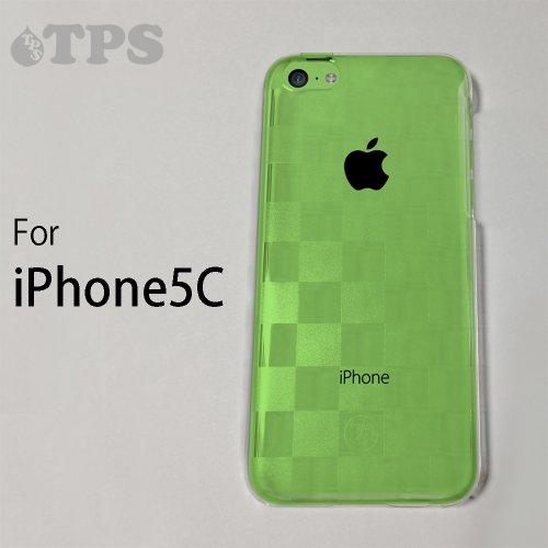 滑り台和らげるマダムiPhone 5C/NEW iPhone5C用【amacore】高品質ハードケース (クリアケース チェッカード)