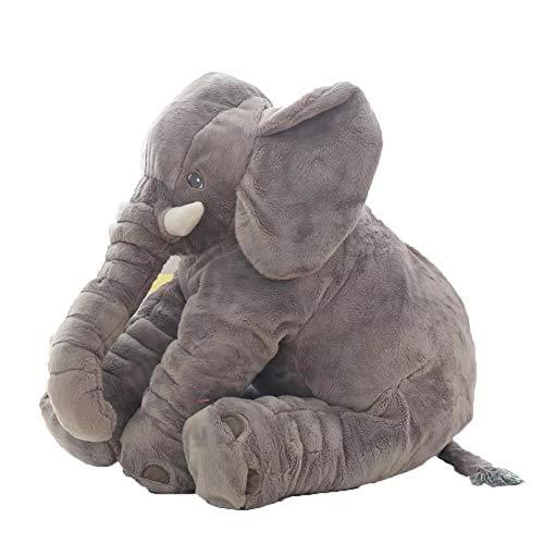 JIDLU 65cm Cartoon Large Plush Elephant Toy Kids Sleeping Back Cushion Stuffed Animal Pillow Birthday Gift