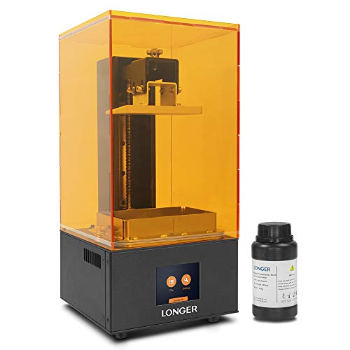 LONGER Orange 10 3D Printer, Resin SLA 3D Printer with Touch Color Screen, Parallel LED Lighting, Off-line Printing, Self-developed Slicing Software, Temperature Warning Build Size 3.86 x 2.17x 5.5 in (Sla Printer Resin)