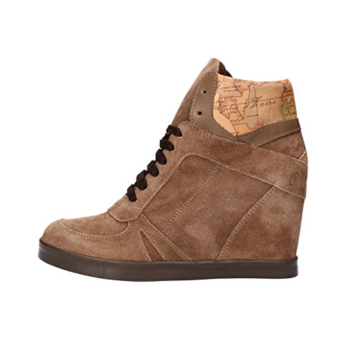 Women's Brown Martini AF284 1 Classe Leather Suede Alviero Beige ALVIERO UK Sneakers Prima CLASSE EU 37 4 Martini Eq0zwR