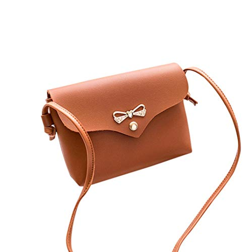 Phone Shoulder Crossbody Coin Cover Solid Bafaretk Bag Fashion Womens Bow Bag BROWN Bag Soft 4RqBwvE
