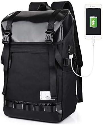 BAJIMI ハイキングバックパック、学生のバックパック、ノートパソコンのバックパック、ビジネストラベルコンピュータバッグ女性と男性、USBカレッジスクールバックパックラップトップやノートブック用充電ポート、B