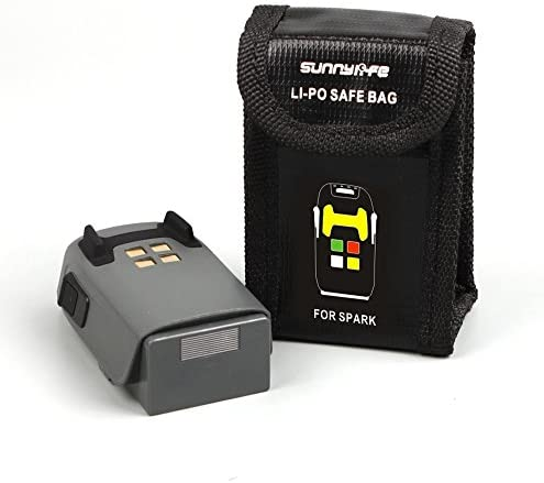 Flycoo Schutztasche für Batteries Abdeckung Safe Bag Aufbewahrungsbeutel Explosionsgeschützte Tasche für DJI SPARK Batterie (Für 1 Batterie)