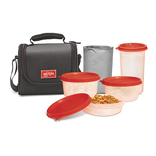 Milton Full Meal Combo 3 Containers Lunch Box – Black
