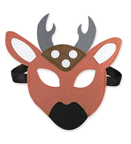 AM LEG A/S Woodland Animal Face Mask - Children's Costume Accessories - One Size Fits Most - Approx. 7'' W - Deer ()