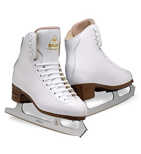 Jackson Ultima Classique JS1990 White Womens Ice Skates, Width B, Size 7.5 (Womens Molded Figure Skates)