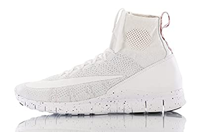 Nike Men Men'S Nike Free Flyknit Mercurial Shoe (white / white-pure platinum-university red)