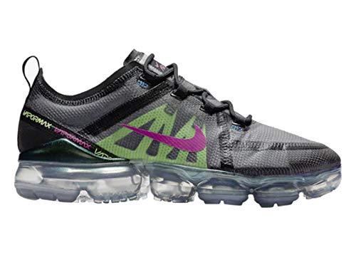 timeless design 9a10f 5550f Nike Men s Air Vapormax 2019 Premium Black Active Fuchsia Photo Blue Mesh  Cross-Trainers Shoes 8.5 M US