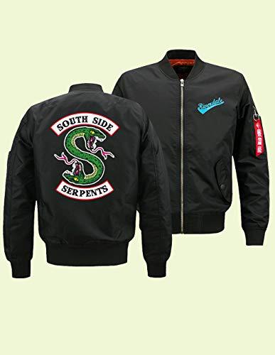 Giacca Autunno Donna Serpents A Archie Uomo Tasche Con Sweatshirt Cerniera Invernali Giacche Sportiva Riverdale Felpa Nero Jacket Leggera r1fqr