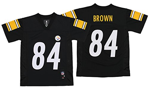 OuterStuff NFL Youth Pittsburgh Steelers Antonio Brown #84 Jersey, Black Small (8) (Pittsburgh Jersey)