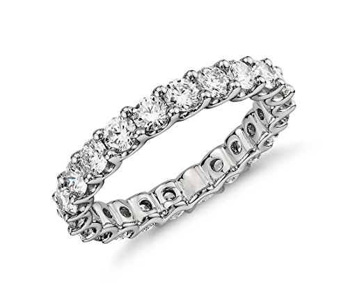 NYC Sterling 3.50mm Sterling Silver 925 Cubic Zirconia Cz Eternity Engagement Wedding Band Ring (8)