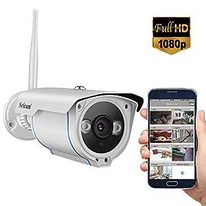 Sricam Telecamera WiFi Esterno 1080P, con Rilevamento del Movimento, Visione Notturna 15M, IP66 Impermeabile, Controllo Remoto Tramite Smartphone/PC 1 spesavip
