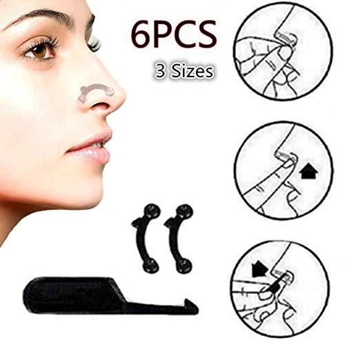 Gaweb 6Pcs 3D Secret Invisible Nose upward lift Clip Nose up Shaping Bridge Straightening Beauty Clip Straight Nose Corrector Clip Beauty Tools Random - Bridge Nose Straightening Up