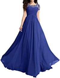Modest Wedding Party Dress Prom Dress Short Sleeves A-line Beads