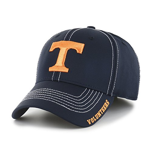 NCAA Tennessee Volunteers Adult Start Line Ots Center Stretch Fit Hat, Medium/Large, Navy
