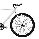 Retrospec Critical Cycles Classic Fixed-Gear Single-Speed Track Bike with Pursuit Bullhorn Bars, Matte Black, 43cm/X-Small