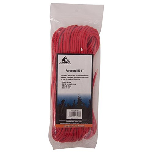 Liberty Mountain Paracord, Red, 50-Feet