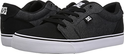 Mens Shoe Supreme (DC Men's Anvil TX SE Skate Shoe, Armor/Black, 12.5 Medium US)
