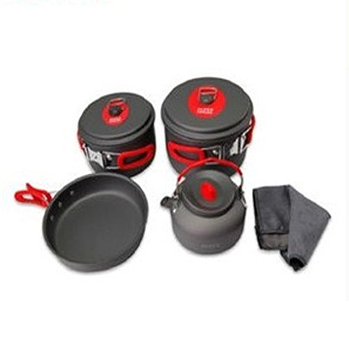 Driving Wild Camping Kitchen with 3-4 Sets of Pot Frying Pan by LANGMING