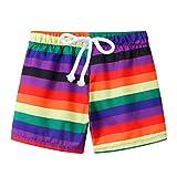 Baby Boys UPF 50+ Print Quick Dry Beach Swim Trunks Summer Board Shorts Kids Swimshorts Swimsuit Swimming Underpants Orange