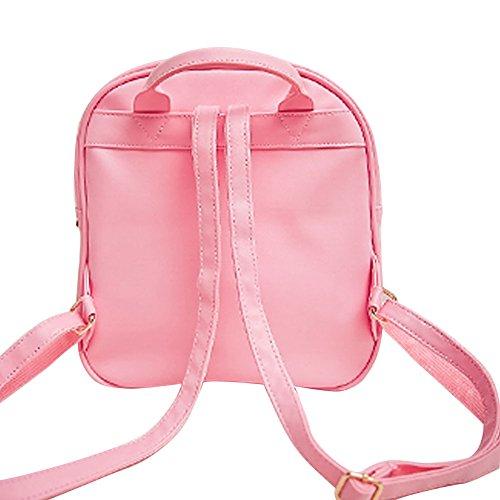 ShiningLove Summer Candy Transparent Love Heart Backpack School Shoulder Bags Teenager Girls Book Bag by ShiningLove (Image #7)