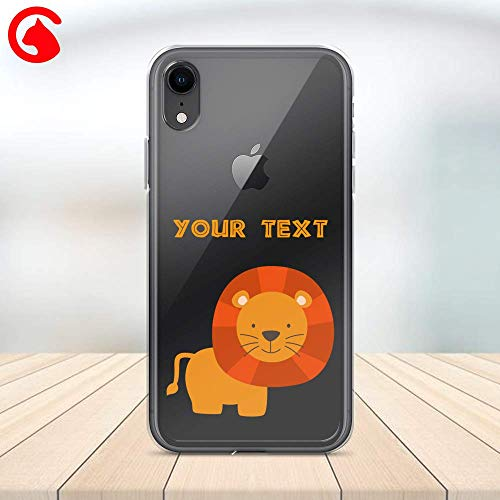 Catix Cases Cute Lion King Animal Pattern Transparent Case Cell Phone Plastic Сlear Case for Apple iPhone X/XS/XR/XS Max / 7/8 / plus iPhone 6 / 6S plus Protector Protective Cover Art Design
