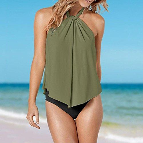 Vert Élégant Sling Push Bandage Bain Chic Mode Monokini Suspendu Amincissant Trikini Slim Cou Pure Adeshop Femmes De Beachwear 2018 Couleur up Sexy Bikini Plage Maillot New 4x7fRA0
