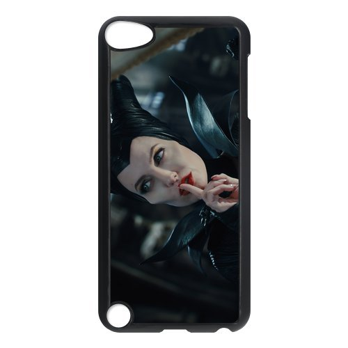 Black/White Sides Classic Style Custom Unique Maleficent Design Skin Cover Case for iPod Touch 5th Durable Plastic iPod 5 Case