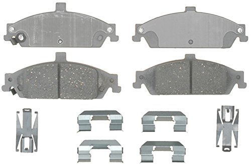 ACDelco 14D727CH Advantage Ceramic Front Disc Brake Pad Set with Hardware