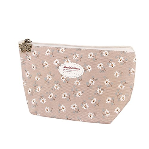 NNVMM Cotton Zipper New Women Makeup Bag Cosmetic Bag Case Organizer Toiletry Bag as show