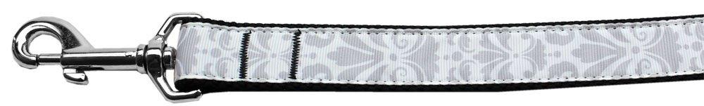 Mirage Pet Products Damask Nylon Dog Collar, Large, Grey