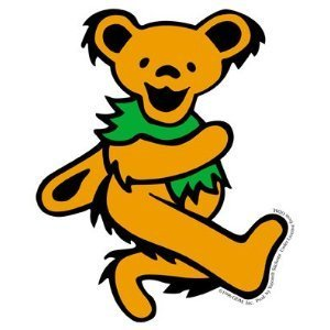 Grateful Dead - Large Orange Dancing Bear - Sticker / Decal