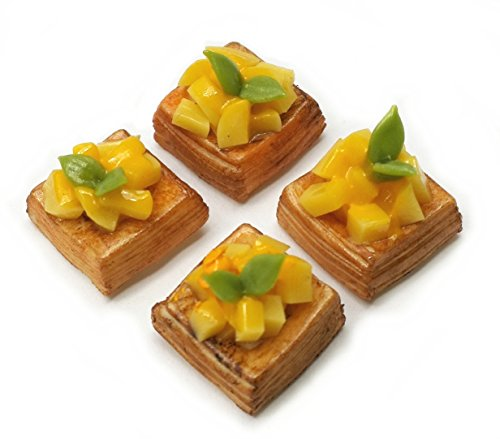 - The Best Buy 4 pcs Dollhouse Miniature Accessories Food Bakery Mango Puff