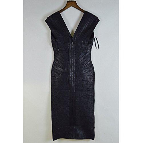 Damen Schwarz Violett HLBCBG Kleid Blau Violett 6xR1Pd