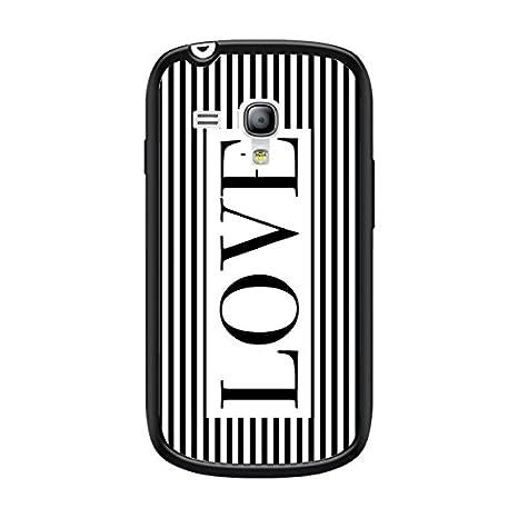 coques-iphone - Carcasa Love blanco y negro para Samsung ...