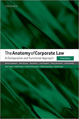 Amazon The Anatomy Of Corporate Law A Comparative And
