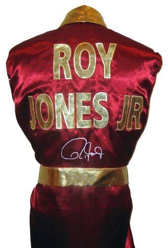 Roy Jones Jr Signed Burgundy Robe