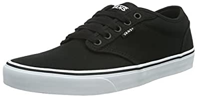 Vans Mens VN000TUY Low-top Sneakers Size: 6.5 Black (Black/White)