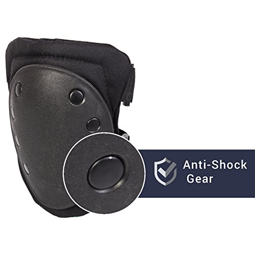 Sports Knee Pad & Elbow Guard with Long Adjustable Straps.Protective Black Pads help prevent Injuries from sports like Skateboarding, Skating, Rollerblading, Hoverboards, Extreme Sports & Biking
