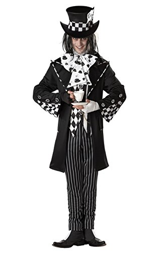 California Costumes Men's Dark Mad Hatter Costume,Multi,Large (Mad Hatter Fancy Dress)