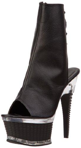 Pleaser Illusion 1018, Stivali Donna Nero (Black (Blk Faux Leather/Blk Matte))